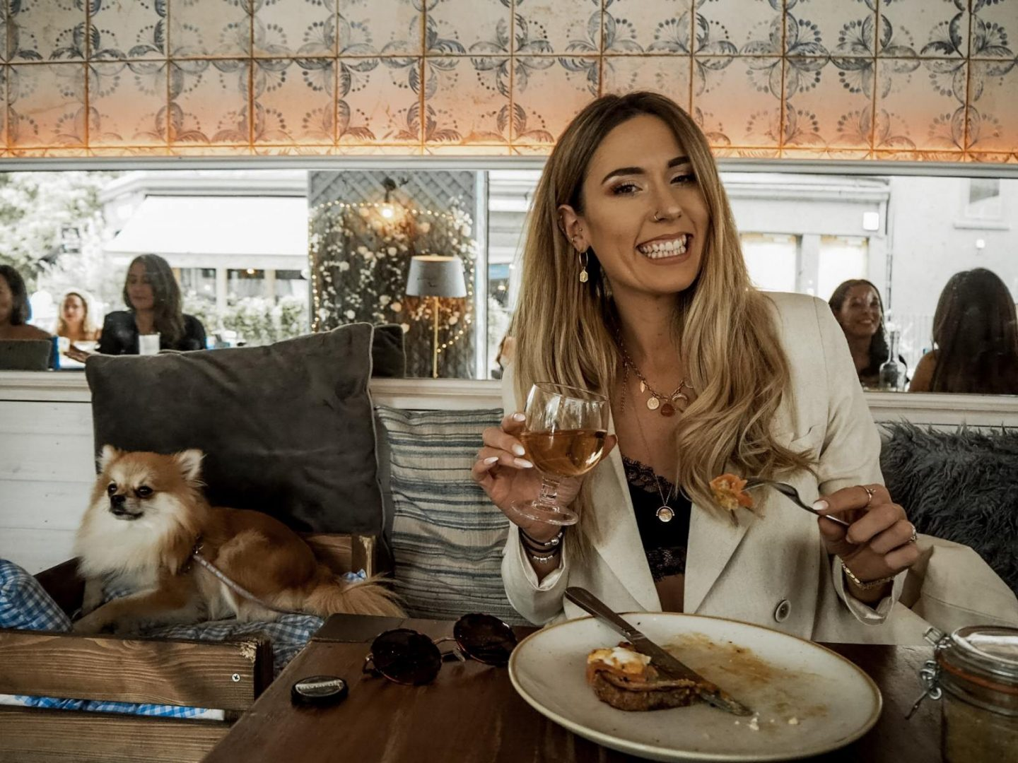 London blogger dining with your dog - brunch at Megan's restaurant